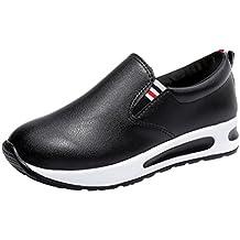 Zapatillas de Cuero para Mujer Otoño 2018 PAOLIAN Zapatos de Plataforma  Dama Casual Cómodo Moda Señora c9d9faeb408
