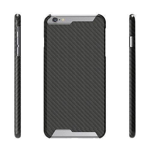 """t-carbon Handmade articolo Ultra Sottile Lusso 100% Vera pura fibra di carbonio per iPhone 6Cover + libero protezione dello schermo in vetro temperato con scatola regalo, iPhone 6S 4.7"""" Glossy"""