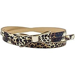 Inception Pro Infinite Cinturón de mujer - leopardo delgado - Piel sintética - Hebilla - Arco GP - 257
