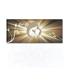 Idea Regalo - I Colori del Caribe Quadri Moderni Religiosi CAPEZZALI SACRI per Camera SA Letto CAPEZZALE CAPOLETTO Olio su Tela Dipinti A Mano Madonna con Bambino Alta QUALITA' Made in Italy Grazia