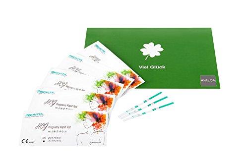 30x original INNOVITA Schwangerschaftstests mit hoher HCG Empfindlichkeit 10mlU/ml in breiter Ausführung (3mm) - jeder Frühtest einzeln verschweißt - neutrale Verpackung