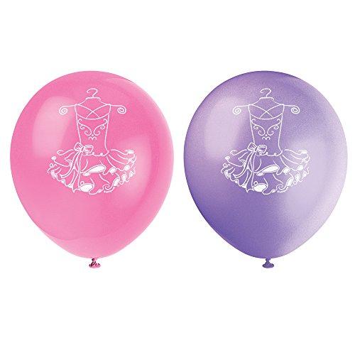 Rosa Ballerina-Luftballons aus Latex, 30cm groß, (Ballerina Party Supplies)