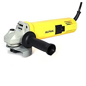 Spartan Alpha A8801 4 inch 850-Watt Angle Grinder with Wheel Guard (Yellow)