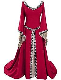 6a6b2bbac6a8 BaZhaHei Donna Medievale Boho Vestito Retro Lungo Abito Cosplay Costume  Partito Vestito