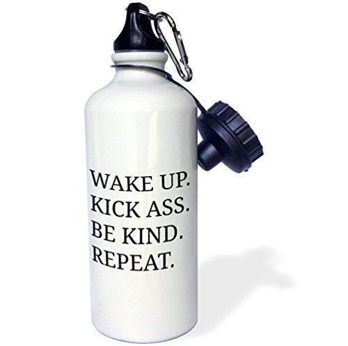 statuear Wake Up Kick Ass essere tipo ripetere in alluminio 20ml 600ml Bottiglia Acqua Sport Regalo