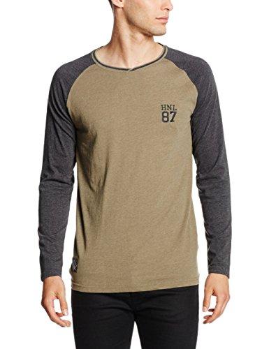 HOPE'N LIFE Herren T-Shirt Kanga Braun - Marron (Kaki)