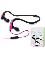 Bluetooth Kopfhörer für iPhone, TechCode® New Wireless Stereo Bluetooth Kopfhörer einstellbar Kopftyp Bluetooth Kopfhörer Mic für iPhone, iPad, iPod, Sumsang, Tablet PC und Other Bluetooth Moblie Phone (Jo39-Rosa)