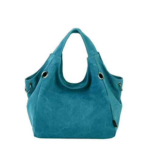 Transer Women Shoulder Bag Popular Girls Hand Bag Ladies Canvas Handbag, Borsa a spalla donna 32cm(L)*48H)*15cm(W), Red (Multicolore) - YLL60902521 Blue