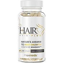 Hair-Plus - Suplemento Para La Caída Del Cabello Con AnaGain - Clínicamente Probado -