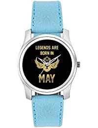 BigOwl Legends Are Born In May Birthday Gift For Him Fashion Watches For Girls - Awesome Gift For Daughter/Sister...