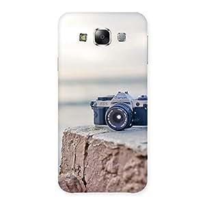 Delighted Camera on Rock Multicolor Back Case Cover for Samsung Galaxy E5