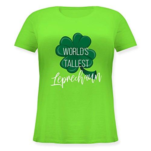 Shirtracer St. Patricks Day - Worlds Tallest Leprechaun - Lockeres Damen-Shirt in Großen Größen mit Rundhalsausschnitt Hellgrün
