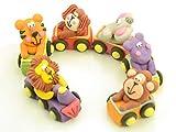 Tiere im Zug Zucker 6er Set