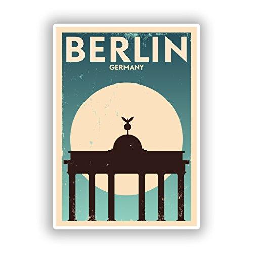 2x Berlin Germany Vinyl Aufkleber Reise Gepäck # 10130