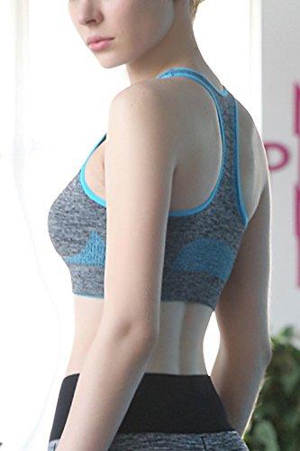 Reggiseno donna elastico Racerback Wireless Sport Blue