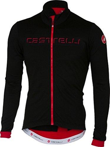 Castelli Maillot De Ciclismo De Manga Larga 2018 Fondo Fz Negro-Rojo (L, Negro)