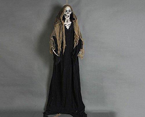 lett Angst Dekoration Hängen Zombie Qualität Poly Kaschmir Material Old Effect Tuch 200cm Höhe (Halloween-rob Zombie-musik)