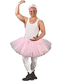 Adult Mens Mans Pink Ballerina Stag Do Tutu Skirt Fancy Dress Costume Outfit