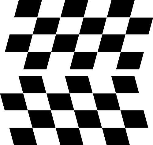 Banderas cuadros deportes pegatinas coche Rally~3