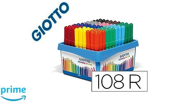 GIOTTO 410000 Feutre Turbo Color Coffret Scolaire 14 Lot de 4 Noir