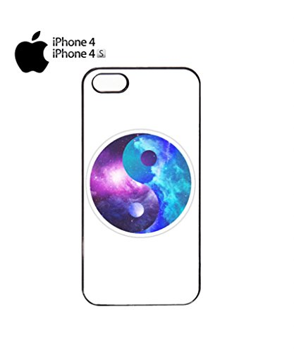 Ying Yang Galaxy Tumblr Cool Funny Hipster Swag Mobile Phone Case Back Cover Hülle Weiß Schwarz iPhone 5c Black Schwarz