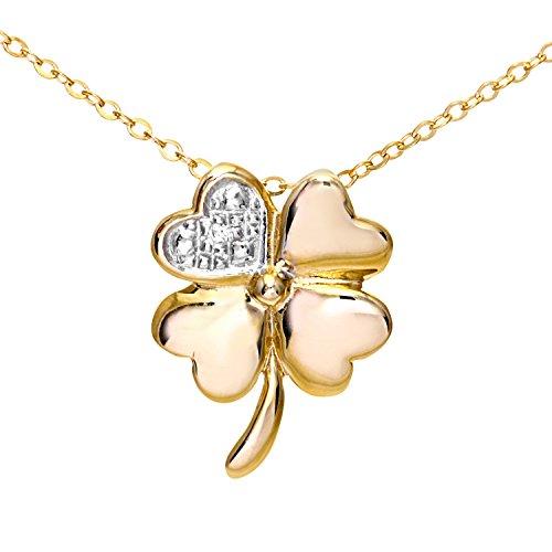 Colliers - PP04736Y - Collar de mujer de oro amarillo (9k) con 1 diamante, 46 cm