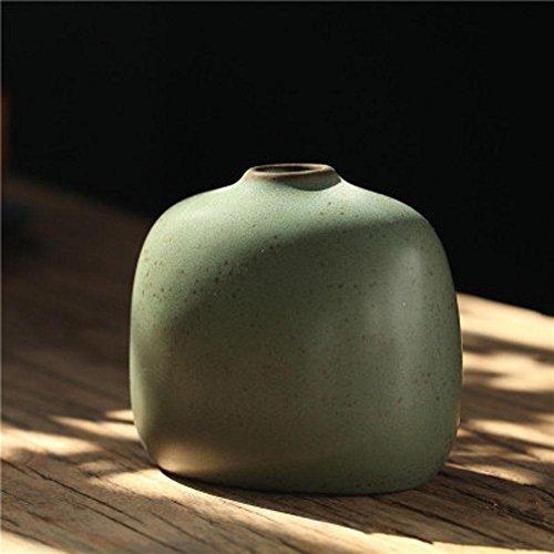 LUXURYDREAM Elegant Modern Simple Style Solid Zen Theme Farbe Home Decor, Tisch Centerpiece, Küche Dekoration Porzellan Vase , Green