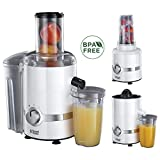 Russell Hobbs 22700-56 3 in 1 Ultimativer Entsafter, Smoothie Maker mit Impuls-/Ice-Crush-Funktion