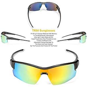 ffa9d300fe INBIKE Gafas Sol Polarizadas Ciclismo con 5 Lentes De Pc Intercambiables y Montura  De TR90,