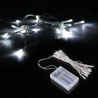 Power Online 20led Lichterkette Weihnachtsbeleuchtung Batteriebetrieben Wei Fr Garten Biergarten Party Aussen Innen-beleuchtung Leuchte Deko von Power Online