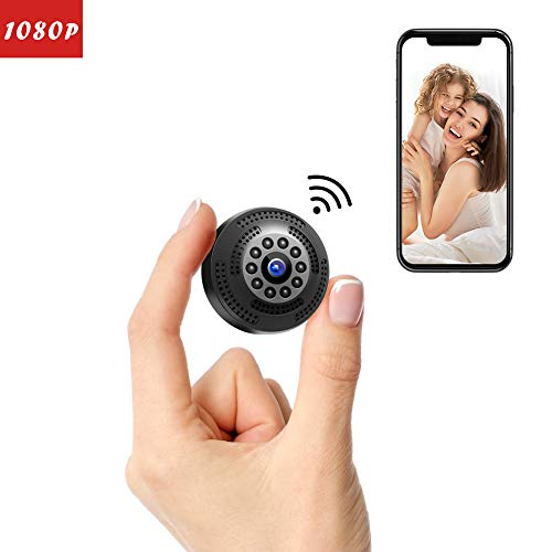 Victure Mini Kamera FHD 1080P,Tragbare kleine WLAN Überwachungskamera,Nanny Cam mit Bewegungserkennung und Infrarot Nachtsicht,Aufnahme während des Ladevorgangs,Wireless Weitwinkel Kamera (Wireless-kamera-app)