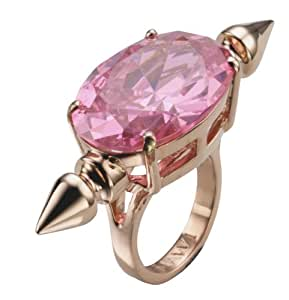 Mawi Pink Oval Gemstone Ring with Spike- Size M