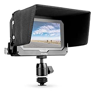 SMALLRIG Monitor Cage with Sun Hood and Ball Head Mount for Blackmagic Video Assist(BMVA) 5'' Monitor-1981