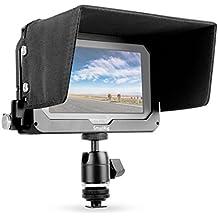 SmallRig Jaula de Monitor con Capucha de Sol y Soporte de Cabeza de Bola para Blackmagic video Assist (BMVA) 5 '' Monitor-1981