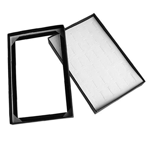 36 Slots Ring Display Tray Schmuckaufbewahrungsbehälter-Ohr-Bolzen-Organisator-Halter Transparent Window Show Case 36 Slot Display-trays