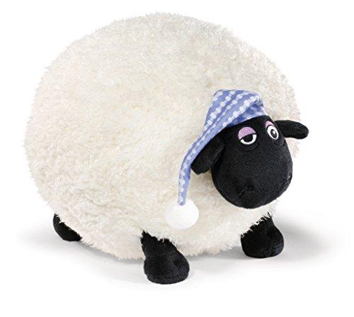 Nici 41468 Shaun das Schaf Kuscheltier Shirley mit Schlafmütze, 30 cm, Farbe: Weiß/Schwarz -