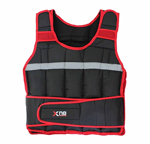 Weighted-Vest-101520Kg-Weight-Loss-Training-Running-Adjustable-Jacket-Removable-Weight-Crossfit-Weight-Loss-Body-Workout-Exercise-Black-and-Red-10kg