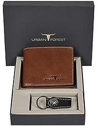Urban Forest Xavier Redwood Leather Wallet And Keyring Combo Gift Set For Men - Men's Wallet Combo