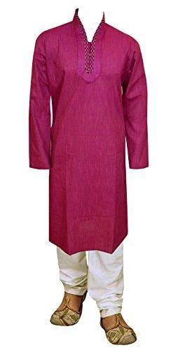 Herren Indian Kurta pyjama für Bollywood-thema & kostüm prty Shalwar Kameez geschäfte London 779 - Rot Violet, 42 (Bollywood Männer Kostüme)