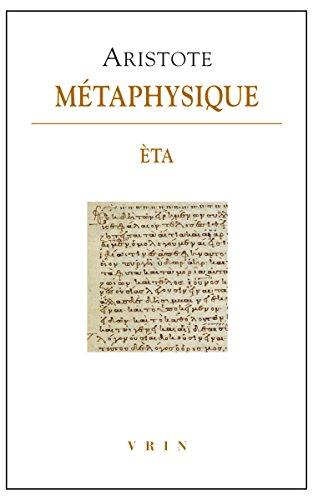 Metaphysique - Livre Èta