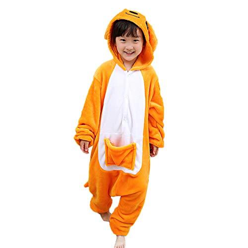 (Z-Chen - Kinder Pyjama Strampler Schlafanzug Tier Kostüm für Halloween Karneval Fasching, Känguru kostüm, Gr. 140/146 (Herstellergröße 125/140))