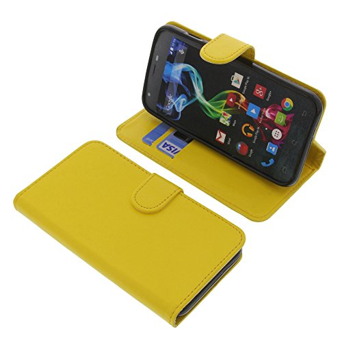 foto-kontor Tasche für Archos 50c Platinum Book Style gelb Schutz Hülle Buch