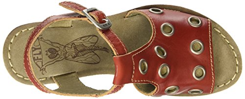 FLY London Goff643fly, Sandales Compensées femme Rouge - Red (Devil Red)