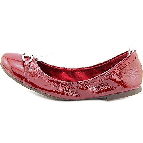 Lauren Ralph Lauren Betsy Femmes Cuir verni Chaussure Plate Dk Berry