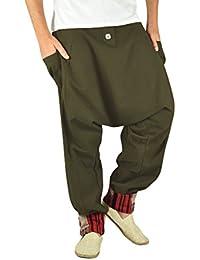 Bequeme Haremshose für Männer als alternative Kleidung und Aladinhose in Ethno Mode von virblatt M - XL – Freudentanz