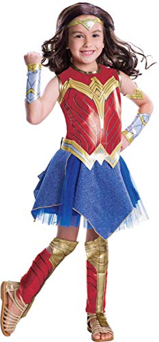 Justice League Deluxe Wonder Woman Girls Fancy Dress Costume Large