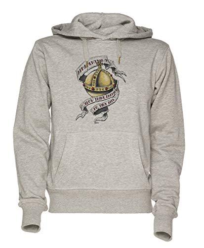 Jergley Das Heilig Hand Granate Unisex Grau Sweatshirt Kapuzenpullover Herren Damen Größe M | Unisex Sweatshirt Hoodie for Men and Women Size M
