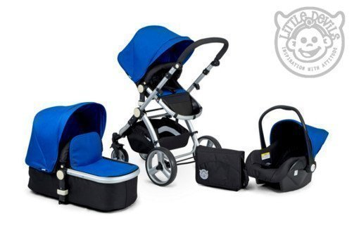 black-blue-carrera-sport-3-in-1-baby-travel-system-pushchair-pram-buggy-stroller-iso-fix-compatible-