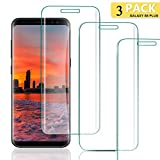 DEALUY [3-Pièces] Verre Trempé S8 Plus, Film Protection S8 Plus, Dureté 9H, Anti Rayures Sans Bulles Protection Ecran Ultra Résistant, HD Ultra transparent, Protection écran S8 Plus