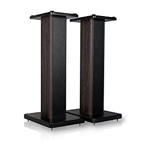 minify BS-S8 - 1 Paar 62cm MDF Boxenständer in nussbaum/lederoptik-Finish - ideal für Boxen mit Holzdekor